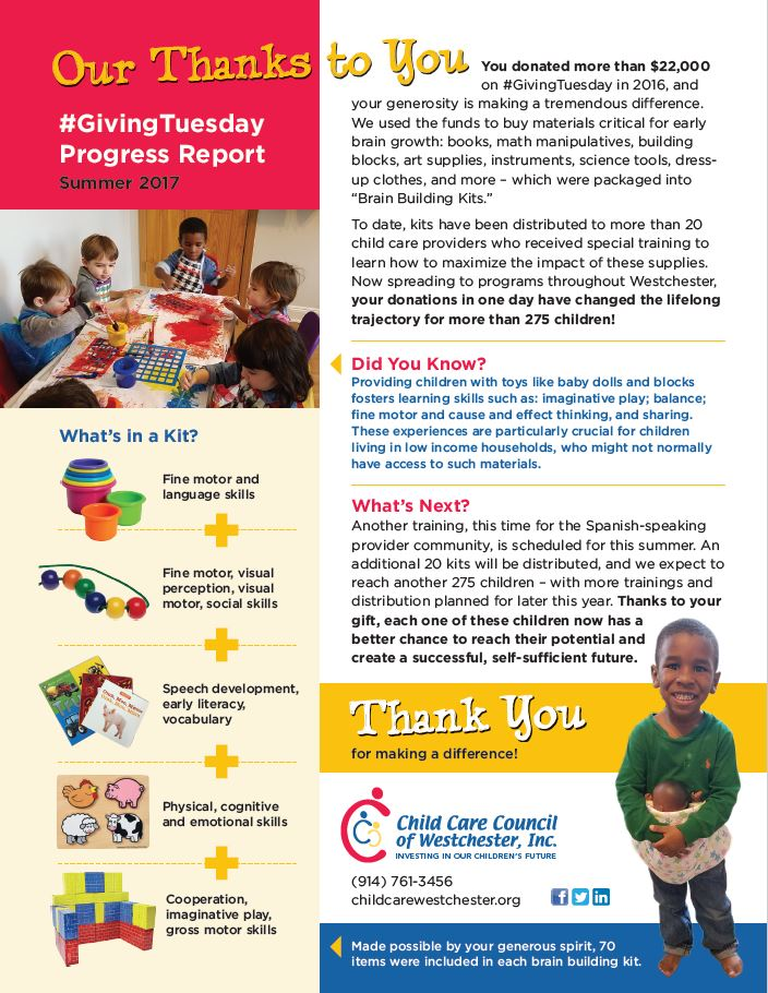 Giving Tuesday Progress Report 2017